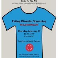 #LovetheWayUR- Eating Disorder Screening