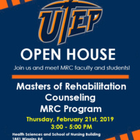Open House- Master's of Rehabilitation Counseling - Scholarships available!!!