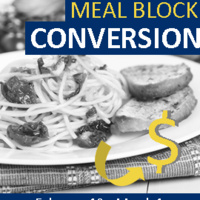 Meal Block Conversion