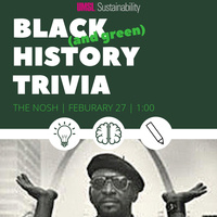 Black (and green) History Trivia Table