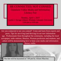 Gunnison Valley Media and Information Literacy Fair