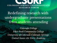 16th Annual Colorado Springs Undergraduate Research Forum (CSURF)