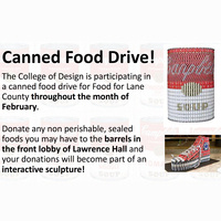 College of Design Community: Join the Governor's State Employees Food Drive