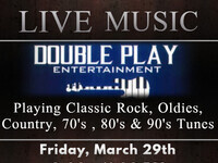 "Live Music with ""Double Play Entertainment"""
