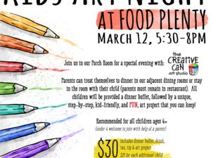 Kids Art Night At Food Plenty