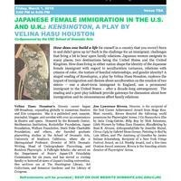 "Japanese Female Immigration in the U.S. and U.K.: ""Kensington,"" a play by Velina Hasu Houston (USC CJRC, USC SDA)"