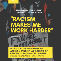 """""""Racism Makes Me Work Harder."""" A critical Examination of African Student Accounts of Perceived Racism on University Campuses."""