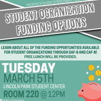 Student Leader Workshop: Student Organization Funding Options