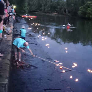 CANDLES ON THE RIVER AT STEEL PARK MARRICKVILLE