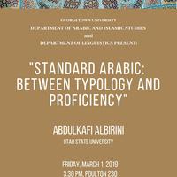 "Abdulkafi Albirini, ""Standard Arabic: Between Typology and Proficiency"""