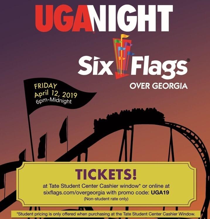 UGA Night at Six Flags - UGA Calendar of Events