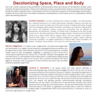 Decolonizing Space, Place and Body