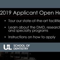 School of Dentistry Applicant Open House (Registration Full)