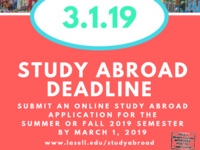 Study Abroad Application Deadline