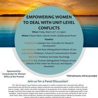 Empowering Women to Deal With Unit-Level Conflicts