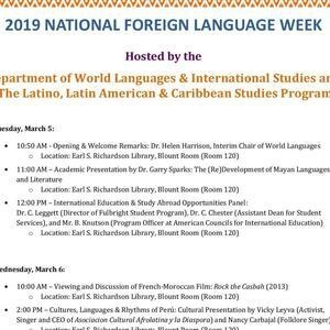 National Foreign Language Week Events (3/5 - 3/7)