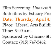 "Film Screening: ""Uno veinticinco;"" ""The Land is Rich"""