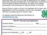 4-H Pop Up Camp
