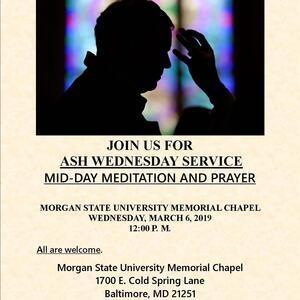 Ash Wednesday / Mid Day Meditation and Prayer