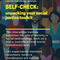 Self-Check: Unpacking your Social Justice Toolkit