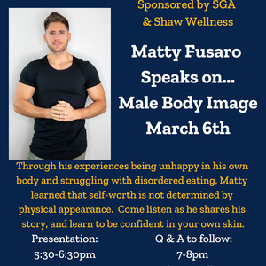 Matty Fusaro: Male Body Image