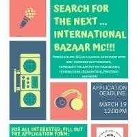MC Application for International Bazaar Open | International Affairs