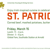 Irish-Inspired Cuisine in Celebration of St. Patrick's Day