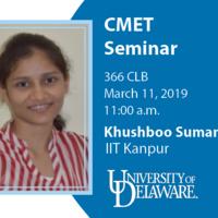 CMET Seminar - Khushboo Suman