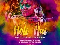 Seventh Annual Holi Festival of Colors Jai Ho! Dance Party