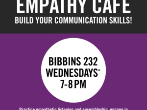 Empathy Café flier with details of meeting
