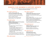Women's History Month Event