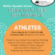 Walker Speaker Series: ATHLETES, Design Your Life & Best Internship