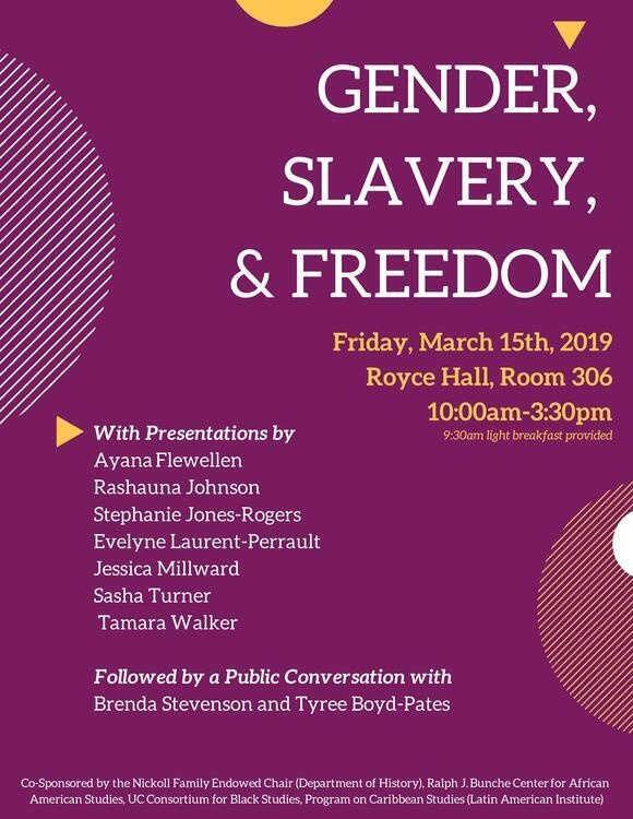 Gender, Slavery, and Freedom (UCLA) > Event Details