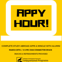 Study Abroad Appy Hour