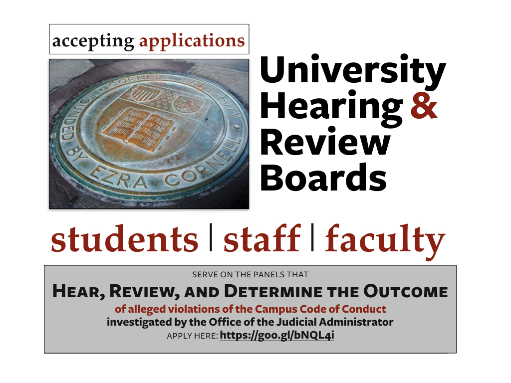University Hearing & Review Boards - Apply Today