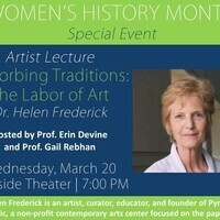 Artist Lecture Absorbing Traditions: The Labor of Art