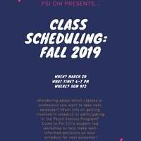 PSI CHI: Class Scheduling - FALL 2019