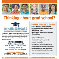 McNair Scholars Information Session