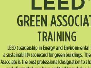 Text LEED Green Associate Training