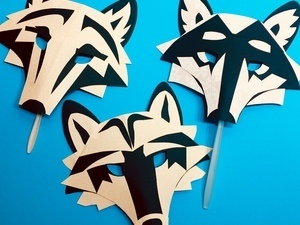 Crafting: Wolf Masks - One of a Kind, but Part of the Pack