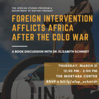 Foreign Intervention in Africa after the Cold War: A Book Discussion with Dr. Elizabeth Schmidt