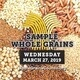 Chef's Table ~ National Whole Grain Sampling Day