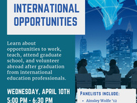 Culture Fest Week: Life After Lasell -International Opportunities