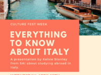 Culture Fest Week: Everything To Know About Italy