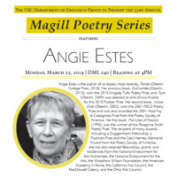 33rd Annual Magill Poetry Reading with Angie Estes