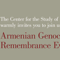 The Center for the Study of Law & Genocide warmly invites you to join us for this Armenian Genocide Remembrance Event