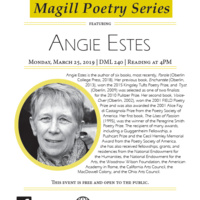 Magill Poetry Series featuring Angie Estes: Reading