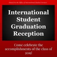 International Student Graduation Reception