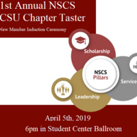 1st Annual NSCS CSU Chapter Taster