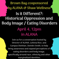 Brown Bag- Is It Different? Historical Oppression and Body Image / Eating Disorders